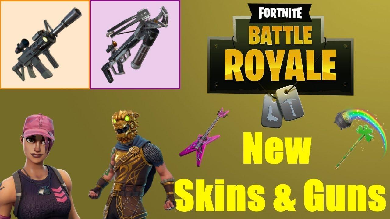New Leaked Skins Guns Coming To Fortnite Version 3 2 Fortnite