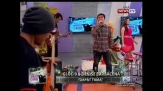 'Dapat Tama' by Gloc-9 and Denise Barbacena live on Tonight with Arnold Clavio