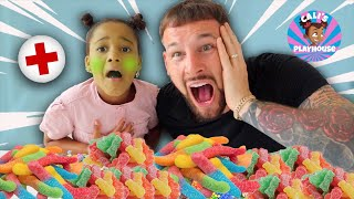 Cali Pretended to be Sick!!🤢 (Sour Candy Mukbang)