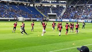 2018.4.8 ヴィッセル神戸対ガンバ大阪 試合前ゴール裏応援風景