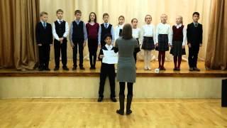 Хор 4 Б класс, песня из к ф Хористы, Vois sut ton cheminвокал