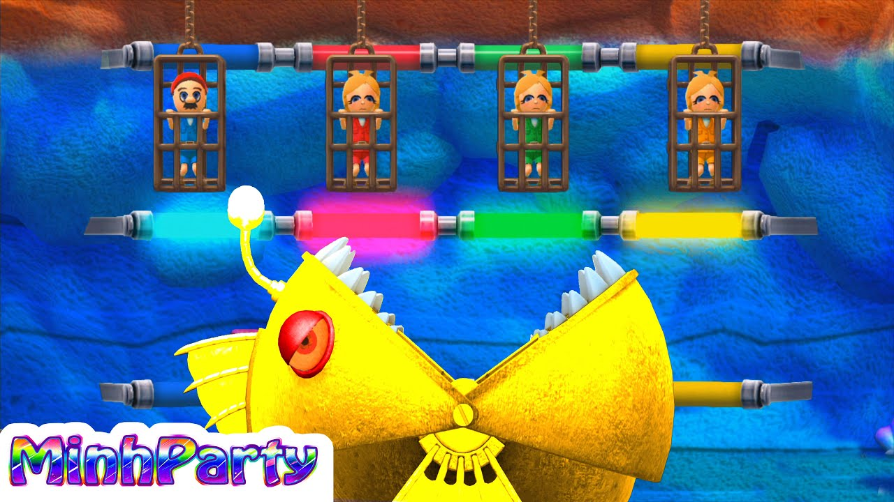 Wii Party U Minigames Collection Dojo Mario Gameplay