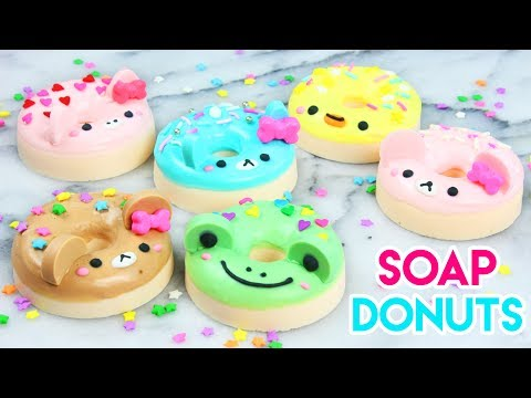 How to Make DIY Kawaii Animal Donut Soaps!
