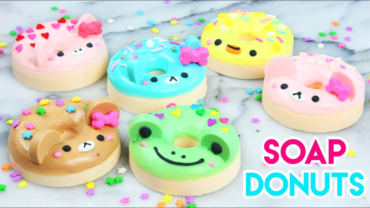 How To Make Diy Kawaii Animal Donut Soaps Youtube