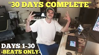 """The 30 HipHop Instrumentals that were made during the """"30 Days of Sampling"""" Livestreams (Beats Only)"""
