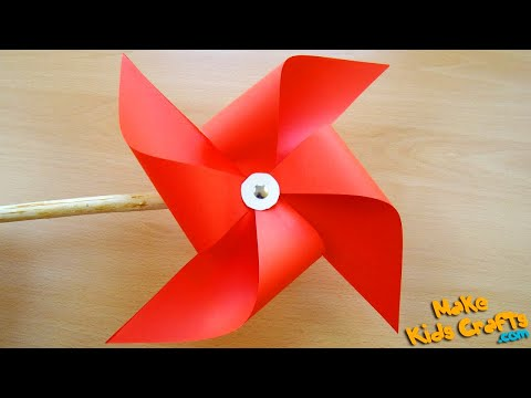 How to make a pinwheel that spins? DIY