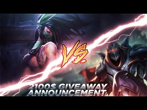 LL STYLISH | ZED VS NEW AKALI [SPECIAL 2100$ GIVEAWAY ANNOUNCEMENT]