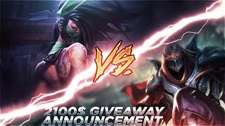 Download Video LL STYLISH | ZED VS NEW AKALI [SPECIAL 2100$ GIVEAWAY ANNOUNCEMENT] MP3 3GP MP4