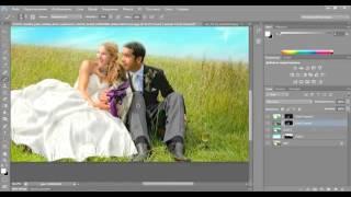 Обработка свадебного фото в Adobe Photoshop. Свадебная фотосессия. Художественная обработка.