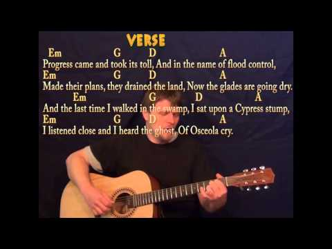 Seminole Wind - Fingerstyle Guitar - Cover Lesson with Lyrics