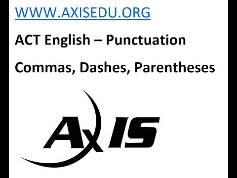 ACT English-  Commas, Dashes And Parentheses