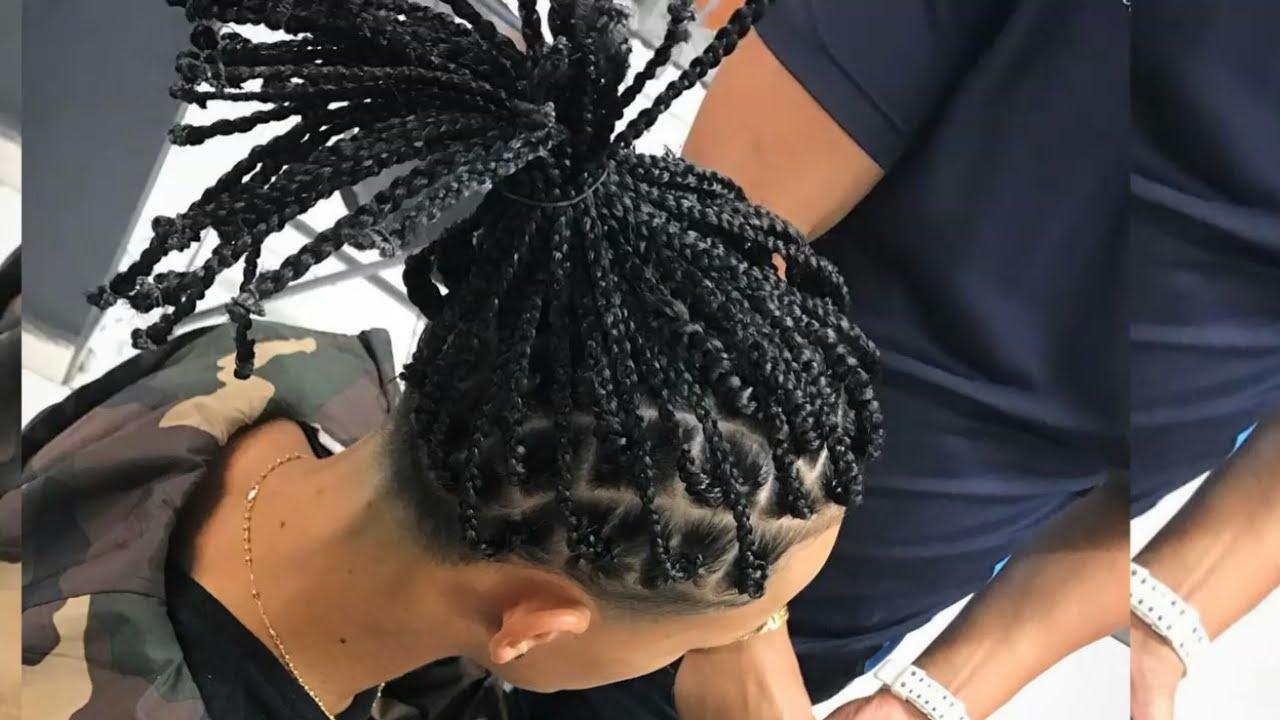Fabuloso peinados trap Galería de cortes de pelo estilo - asi es como a ozuna le hacen el peinado - YouTube