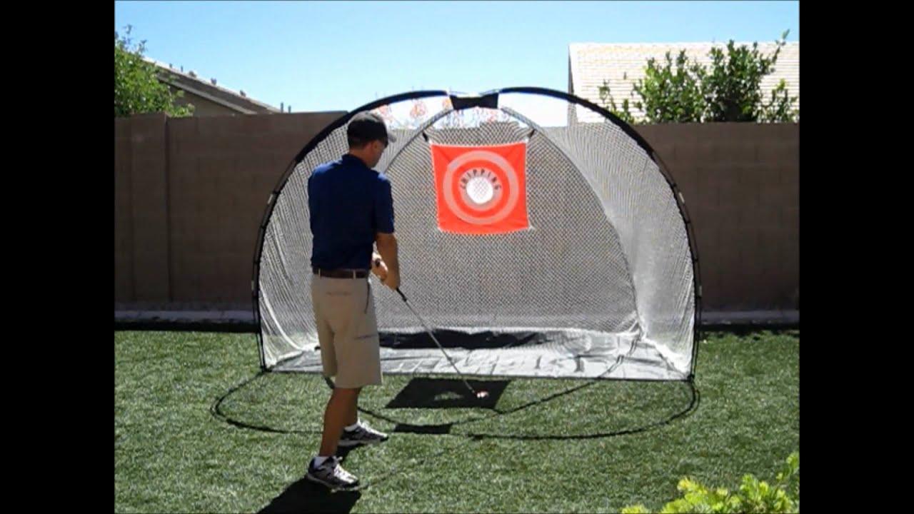 backyard golf practice net youtube