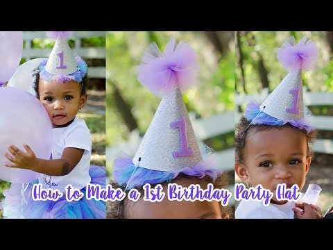 DIY Birthday Party Hat With Free Hat Template | Simply Dovie