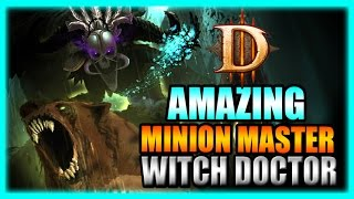 Diablo 3 - Amazing Minion Master Returns! Witch Doctor T10 Rift Farming Build - Patch 2.3 Gameplay
