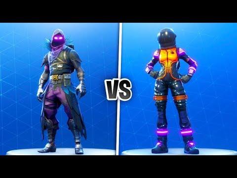 Dark Vanguard vs Raven Skin Showdown! Which Skin is better? (Best Fortnite Battle Royale Skins)