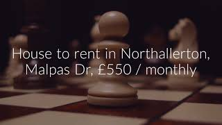 House to rent in Northallerton, Malpas Dr, £550 / monthly