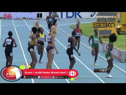 Kenya wins 4x4M Relay Mixed Heat 1