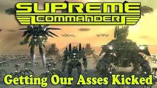 "Supreme Commander 2 (4v4 FFA) ""Getting Our Asses Kicked"""