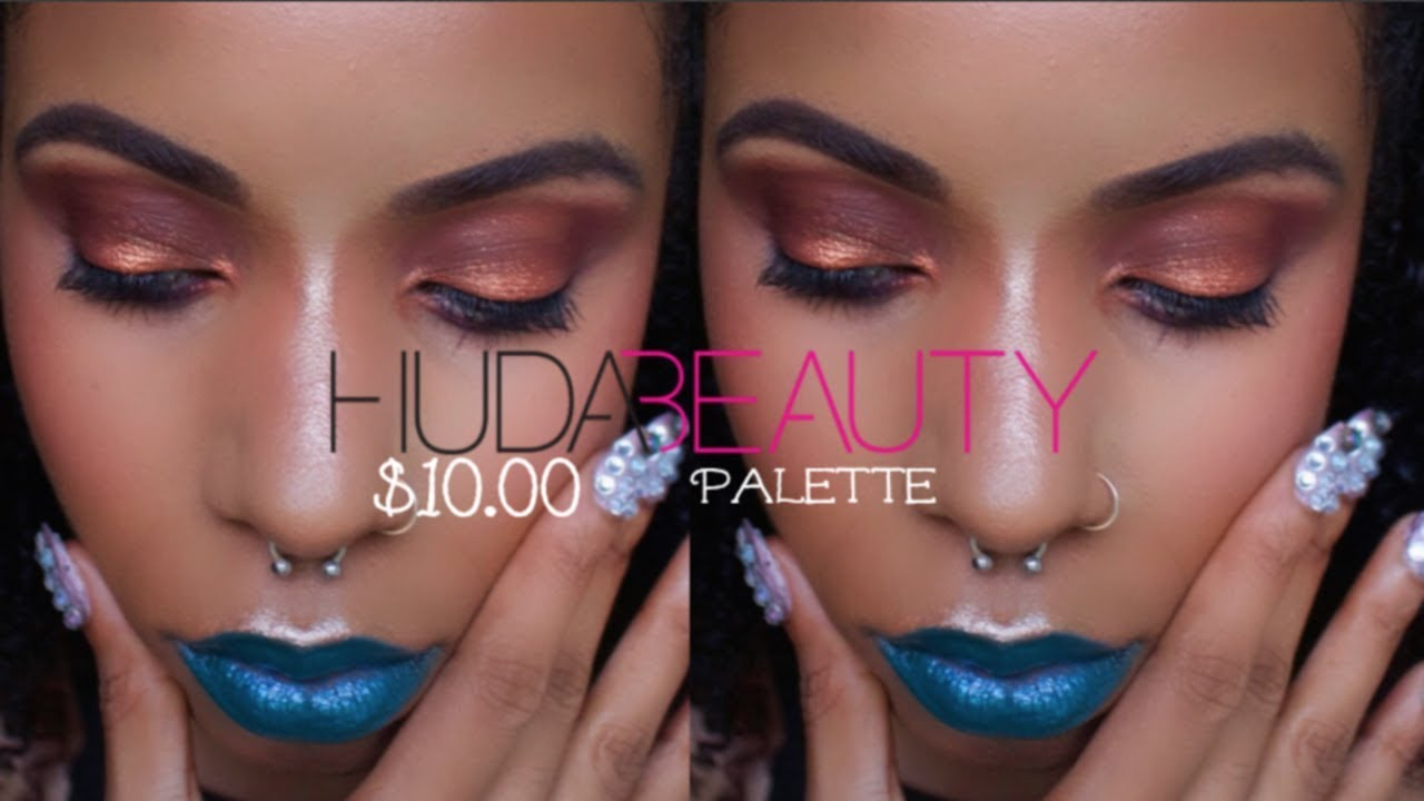 GRWM $10.00 Huda Beauty Palette Dupe. It's the SAME Palette Y'all!!!