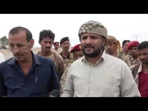 بتوجيهات من المجلس الانتقالي المشوشي يوقف البسط على اراضي بير فضل