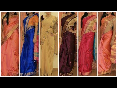 5 Stylish Saree Draping video Best Saree Blouse design collection for Weddings(wear Saree)