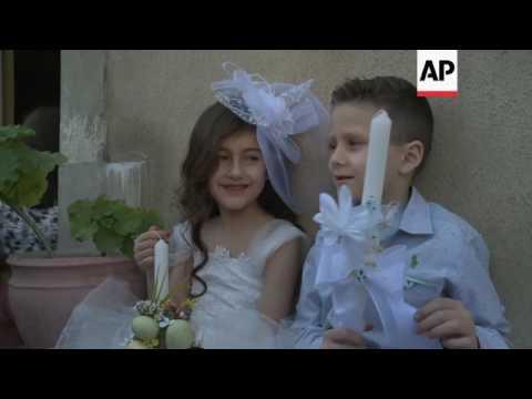 Palm Sunday celebrations in Damascus