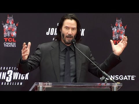 Clint August - Keanu Reeves Full Speech at his Handprint and Footprint Ceremony