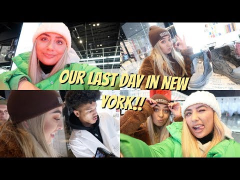 Our Last Day In New York!! 😭Making Custom Shoes With Nike + Shopping On 5th Avenue!