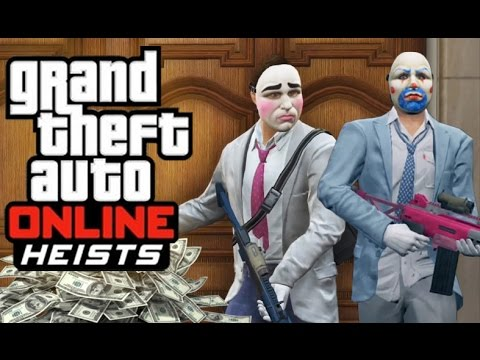GTA 5 Online - Pacific Standard Heist! (Real Motorbike Challenge, Robbing Bank, Hacking)