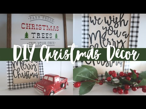 FARMHOUSE CHRISTMAS DECOR DIYS 2019 | 2 EASY CHRISTMAS SIGNS | DOLLAR TREE AND ARTEZA PRODUCTS