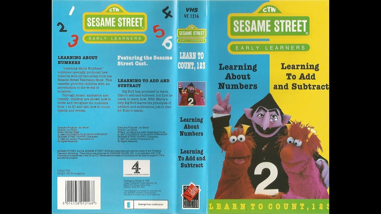 Sesame Street - Learn To Count  123  1991  Uk Vhs