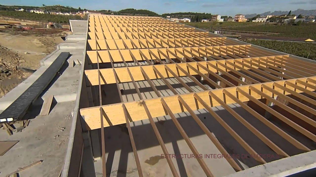 Estructura madera laminada excellent capilla de los - Estructura madera laminada ...