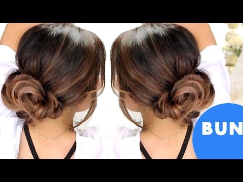★ 3-MINUTE ELEGANT BUN Hairstyles 💙  EASY UPDO HAIRSTYLES
