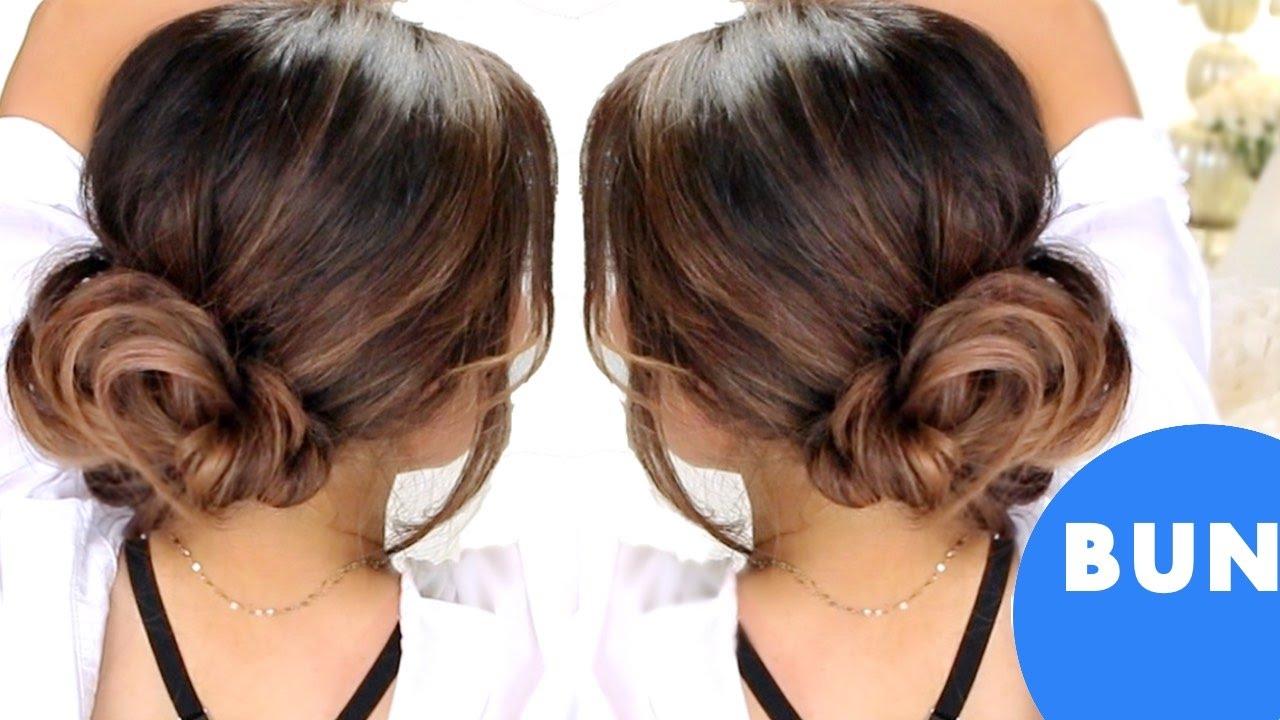 3-minute elegant bun hairstyles