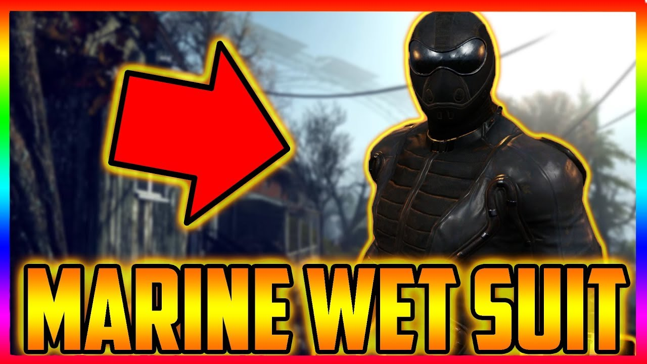 Fallout 76 The Real Marine Wet Suit plan Location And Marine Armor