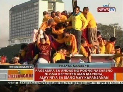 BT: Pagsampa sa andas ng Poong Nazareno ni Ivan Mayrina, alay niya sa isang may kapansanan