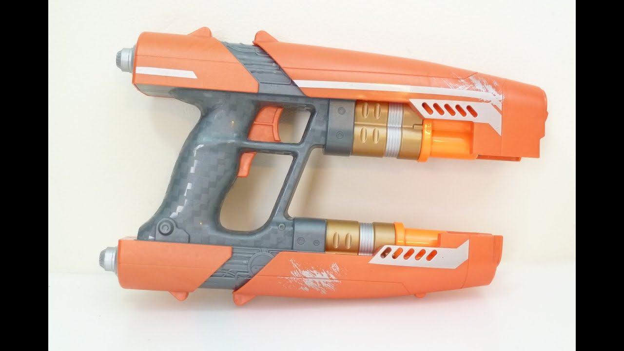 Rob A Reviews Guardians of the Galaxy Nerf Star Lord Quad Blaster