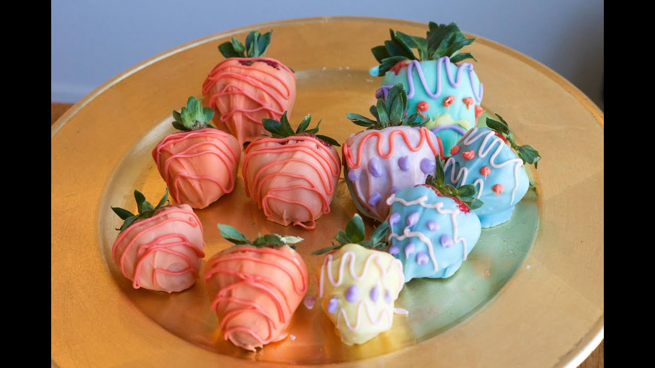 Easter decorated chocolate covered strawberries youtube