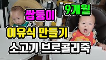 [이유식 브이로그]쌍둥이 9개월 이유식 만들기(중기2단계)