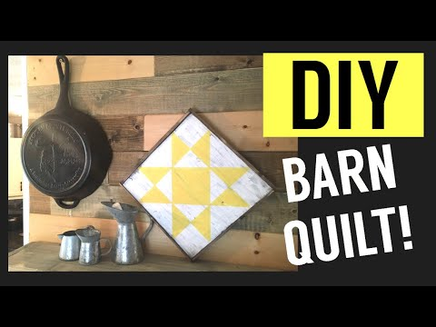 DIY Barn Quilt with the Cricut! || How to make a mini BARN QUILT