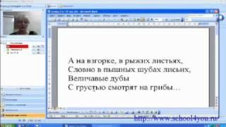 Фрагмент занятия по русскому языку