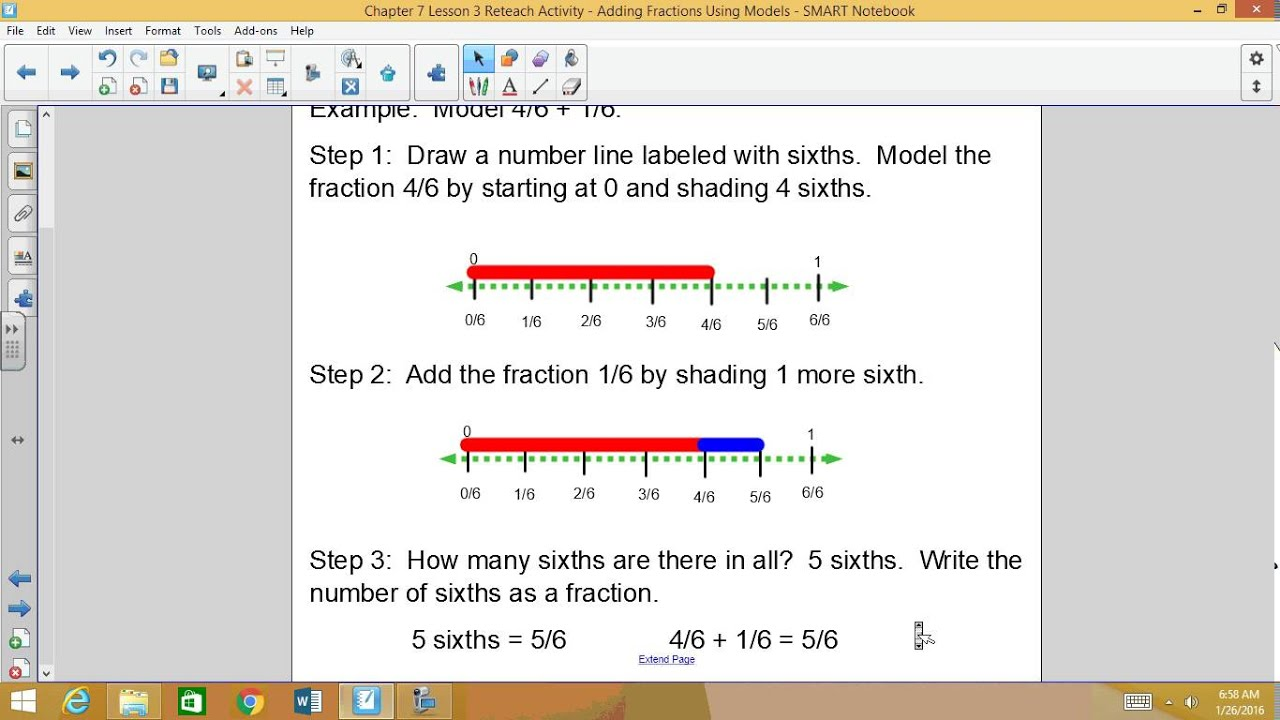 Chapter 7 lesson 3 reteach video adding fractions using models chapter 7 lesson 3 reteach video adding fractions using models ccuart Gallery