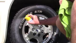 PLEDGE Furniture Polish As A Tire Shine!...Will It Work?