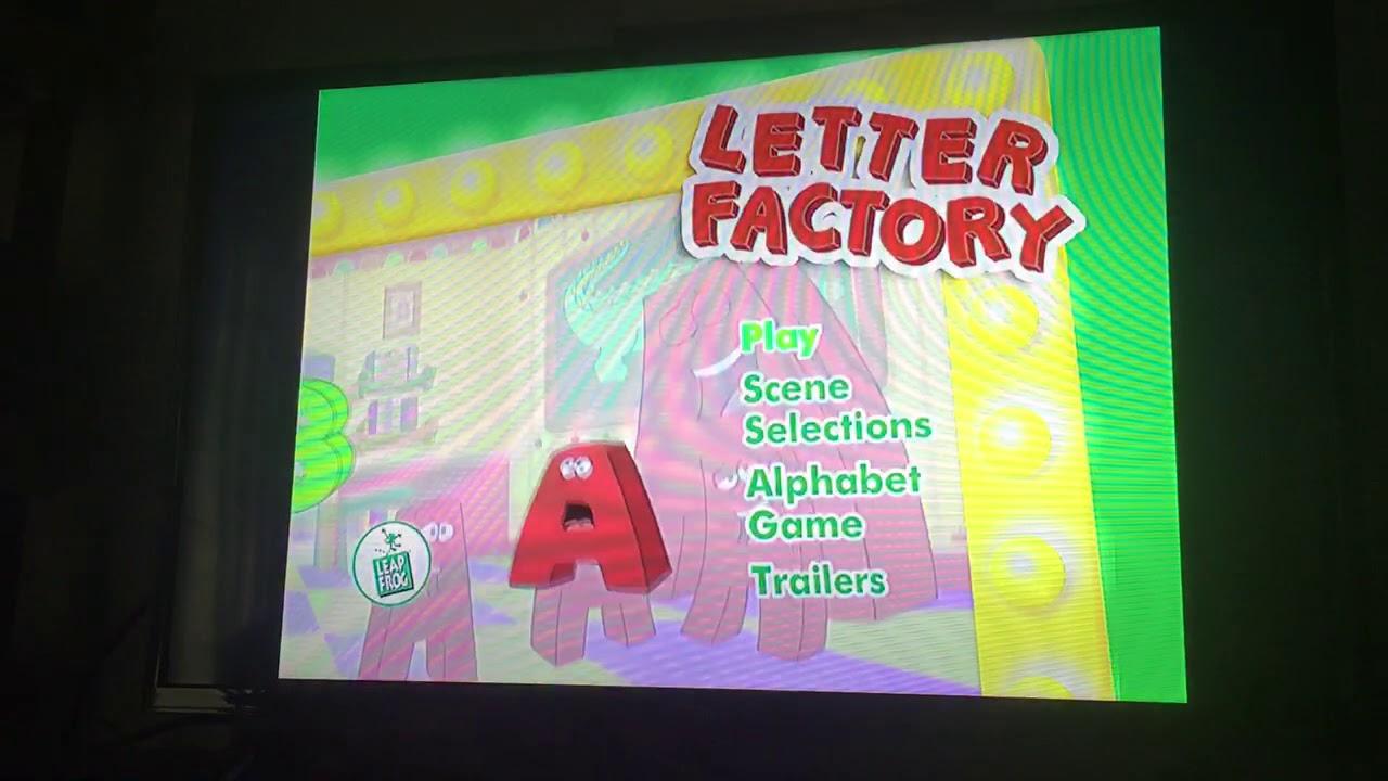opening to leapfrog letter factory 2003 dvd