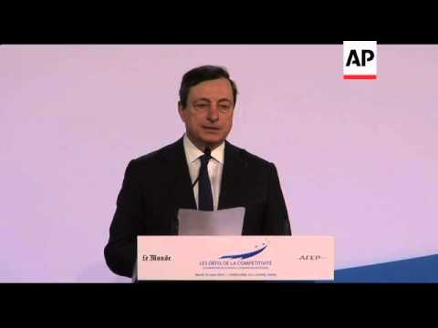 Mario Draghi says he sees little short term inflationary risk within eurozone