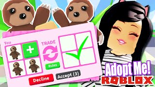 Giving My Subscribers FREE SLOTH PETS In Roblox Adopt Me | Trading My Fans FREE PETS! Update