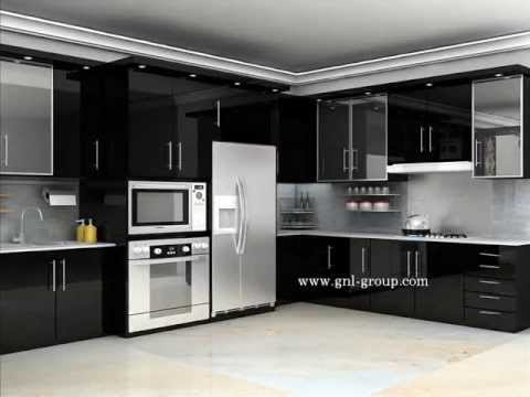 Desain kitchen set minimalis youtube for Desain kitchen
