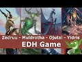 Zedruu vs Muldrotha vs Ojutai vs Yidris EDH / CMDR game play for Magic: The Gathering