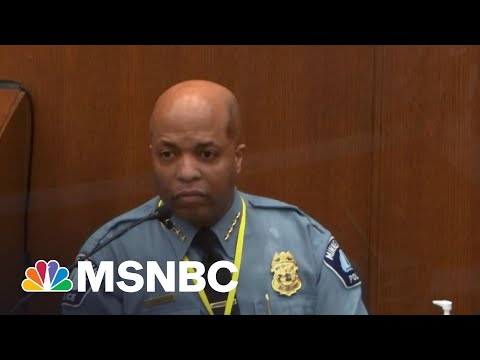 Minneapolis Police Chief Said Chauvin Violated Policy   The ReidOut   MSNBC